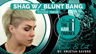 Heidi: Heidi: Shag with Blunt Bang Cut