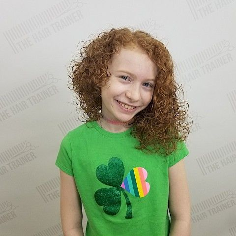 Bella: Asymmetric & Curly Mid-Length Haircut