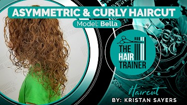 Bella: Bella: Asymmetric & Curly Mid-Length Haircut